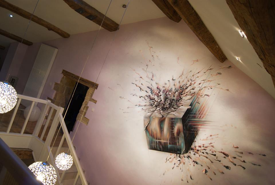 peinture-sur-mur-escalier-3D - immovateur.com