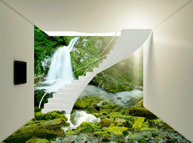 revêtement-sol-résine-aspect-3D-cascade