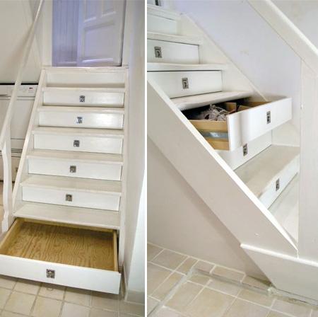 Pas b te des escaliers originaux pour optimiser votre rangement - Tiroir sous escalier ...