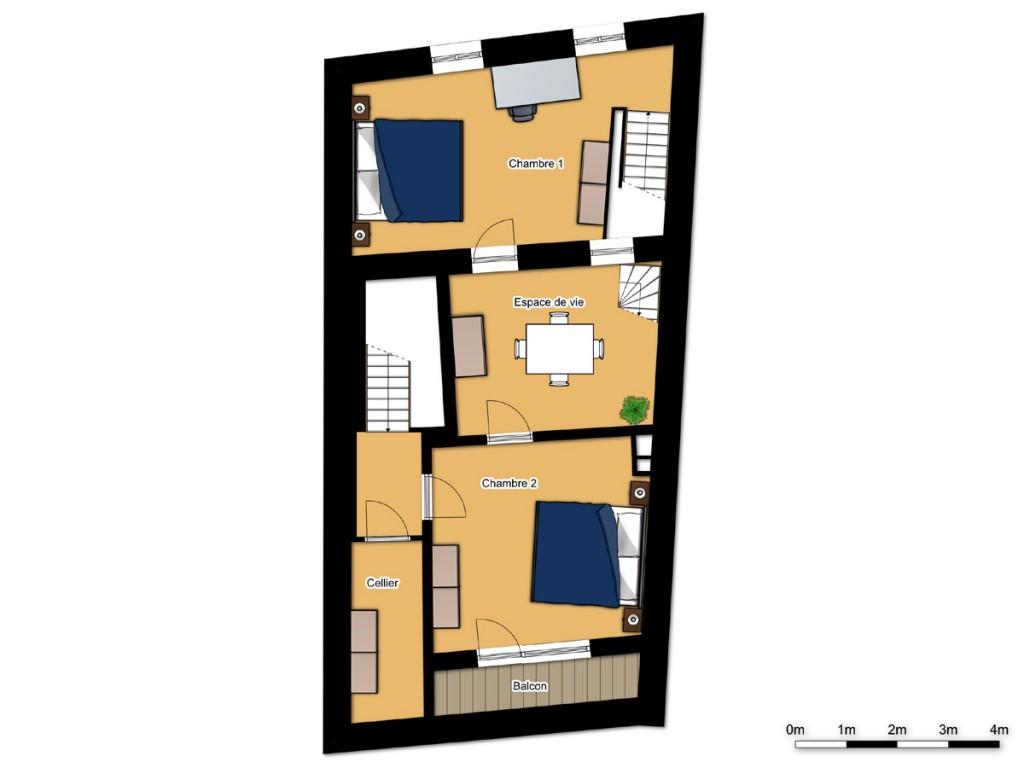 1er étage 2D