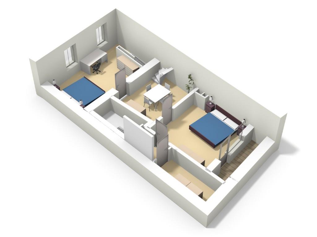 1er étage 3D vue 2