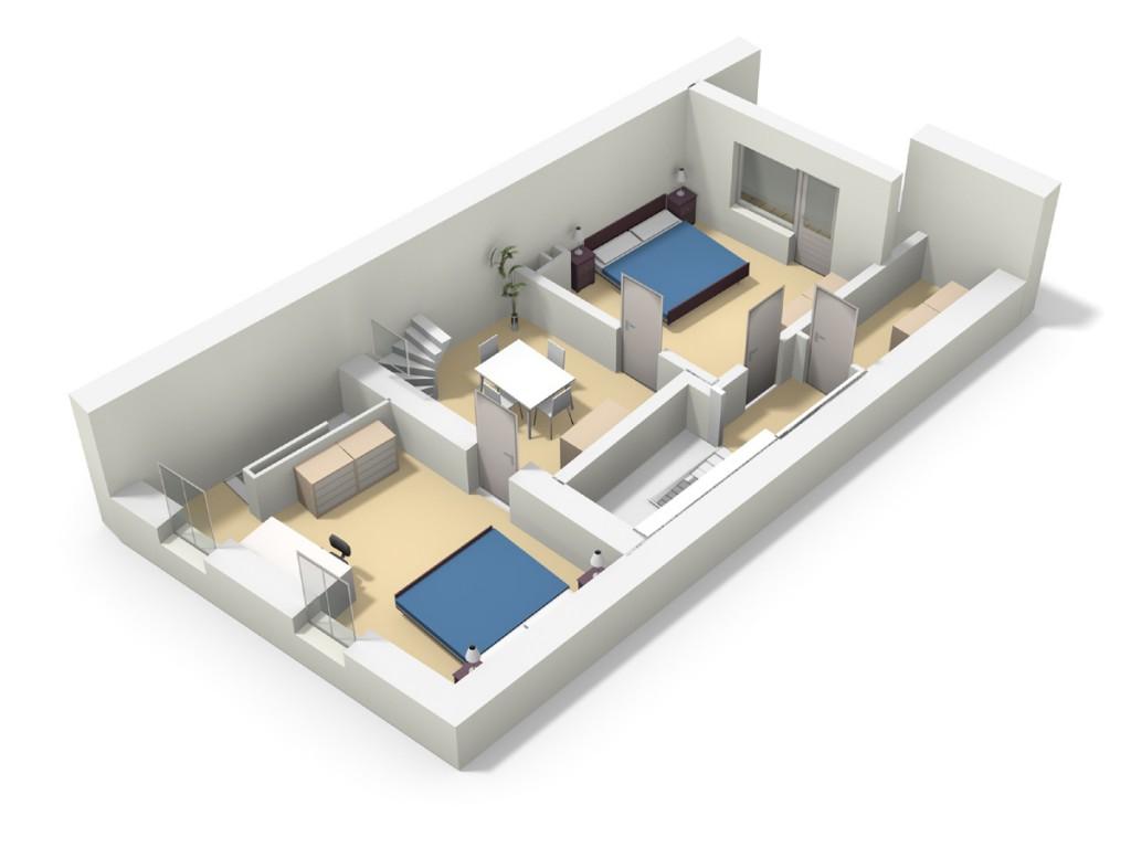 1er étage 3D