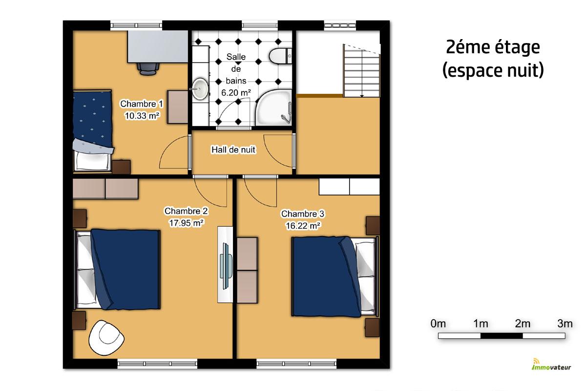 Spacieuse maison 3 chambres vendre thil - Simulation plan maison ...