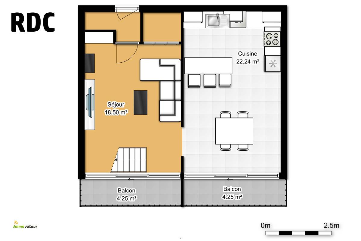 Affaire : Beau Duplex, une chambre, possibilité deux, à Briey