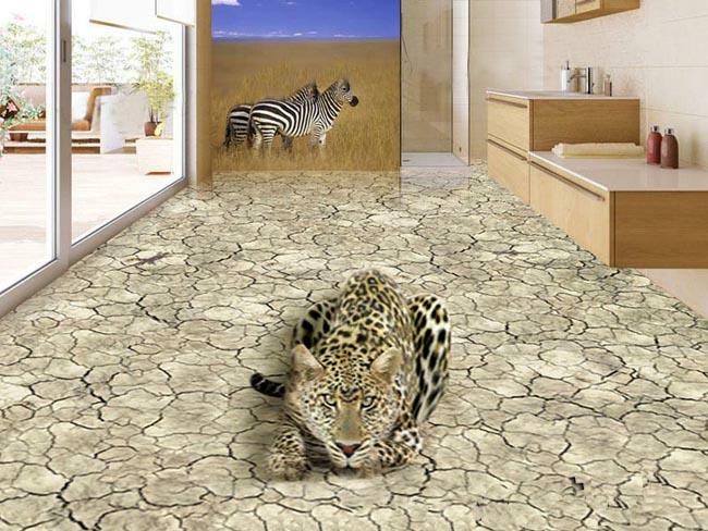 Attrayant Revêtement Sol Résine Aspect 3D Style Africain