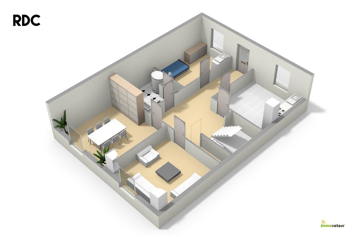 Plan de maison sur 400m2 de terrain for Plan maison 50m2